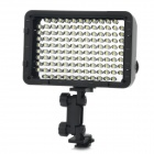 7.6W 5400K / 3200K 540-Lumen 126-LED video ljus - svart (6 x AA)