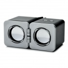 Fashion Foldable Mini Speaker for iPhone / iPad / iPod - Black + Silver