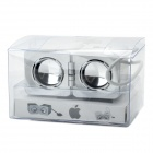 Fashion Foldable Mini Speaker for iPhone / iPad / iPod - Silver + White