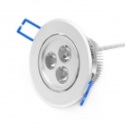 3W 3000K 90~100-Lumen 3-LED Warm White Light Ceiling Down Lamp w/ Driver (AC 100~240V)