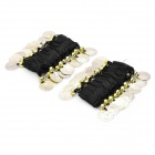 Belly Dance Wristband Bracelet with Sequins Beads - Black + Golden