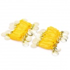 Belly Dance Wristband Bracelet with Sequins Beads - Yellow + Golden