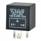 3-Pin Car LED Flasher Relay Fix Turn Signal - Black (DC 12V)