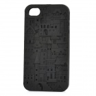 Castle Pattern Design Silicone Protective Case for Iphone 4 / 4S - Black