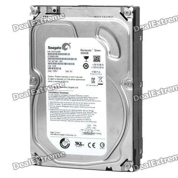 "Genuine Seagate 3,5 ""ST2000DL003 2000GB 5900 RPM SATA 6.0Gb / s Desktop Hard Drive"