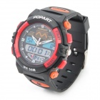 Sports Diving Wrist Watch w/ EL Backlit / Calendar / Stopwatch / Alarm Clock - Black + Red (1xCR626)
