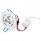 3W 240~260LM 6000~6500K 3-LED White Light Ceiling Lamp (100~240V)