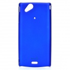MOSHI Protective Plastic Case w/ Screen Protector Guard for Sony Ericsson LT15i/X12 - Dark Blue