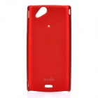 MOSHI Protective Plastic Case w/ Screen Protector Guard for Sony Ericsson LT15i / X12 - Deep Red