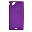 MOSHI Protective Plastic Case w/ Screen Protector Guard for Sony Ericsson LT15i/X12 - Bluish Violet