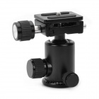 RUBY 005H Aluminium Magnesium Alloy Tripod Ball Head w/ Quick Release Plate Adapter - Black