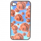 Protective PC Back Case with Vivid 3D Graphic for Iphone 4 / 4S - Basketball Pattern