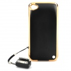 Emergency 1800mAh External Battery Back Case for iPhone 4 / 4S - Black + Golden