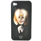 Unique Change Freely 3D Graphics Protective Case for Iphone 4 / 4S - Man + Skull Pattern