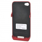 Emergency 1800mAh External Battery Back Case for iPhone 4 / 4S - Red