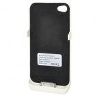 Emergency 1800mAh External Battery Back Case for iPhone 4 / 4S - White + Golden