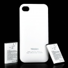 Telsda i.4 External Backup Battery Pack w/ Extra SIM Card slot for iPhone 4 / 4S - White