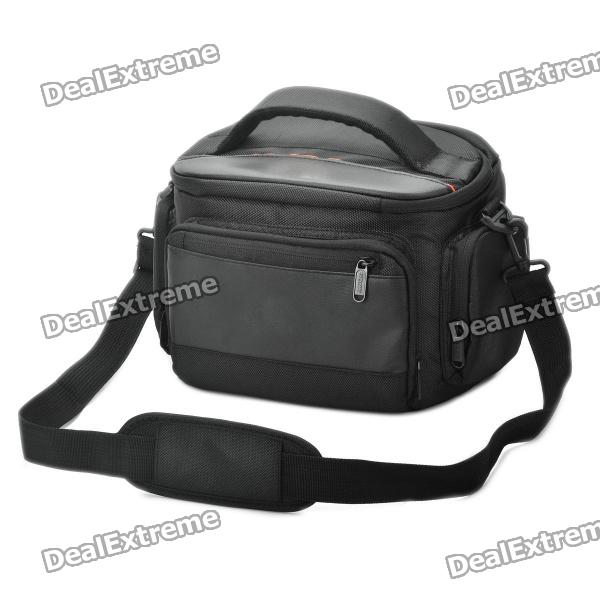 цена Protective Nylon Fabric One-Shoulder Bag w/ Rain Cover for Sony Alpha 350 / 3802 + More - Black