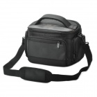 Protective Nylon Fabric One-Shoulder Bag w/ Rain Cover for Sony Alpha 350 / 3802 + More - Black