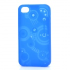Gear Pattern Design Silicone Protective Case for iPhone 4 / 4S - Blue
