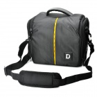 Protective Nylon Fabric One-Shoulder Bag w/ Rain Cover for Nikon D60 / D70 + More - Black