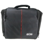 Protective Nylon Fabric One-Shoulder Bag w/ Rain Cover for Canon DSLR EOS7D / EOS5DII + More - Black