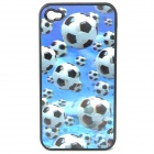 Protective PC Back Case with Vivid 3D Graphic for Iphone 4 / 4S - Football Pattern