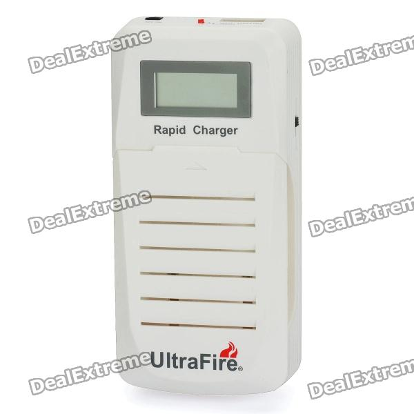 UltraFire WF-200 1.1 LCD Dual Slots Battery Charger w/ USB Port for 18650 / 14500 + More (EU Plug) liitokala 2pcs li ion 18650 3 7v 2600mah batteries rechargeable battery with portable battery box and 2 slots usb smart charger