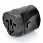 Worldwide Travel Power Adapter Charger w/ UK / Europe / USA / AUST Plug / Universal Socket - Black