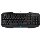 AULA BEFIRE USB 2.0 104-Key Blue Backlit Gaming Keyboard - Black (180cm-Cable)