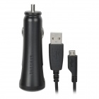 Car Cigarette Powered Charging Adapter w/ USB Data/Charging Cable for Samsung i9220 / i9250 - Black