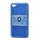 Dragon Relief Imitation Diamond Style Protective PC Back Case for iPhone 4 / 4S - Blue