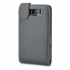 Crocodile Skin Pattern Hard Leather Case Cover for HTC G21 Sensation XL - Black