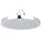 "8"" Round 6-LED Water Temperature Visualizer Sensor Shower Head - Silver"