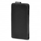 Protective Top Flip Leather + Plastic Case Cover for Sony Ericsson LT15i / X12 - Black