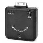 External 5V 1900mAh Emergency Mobile Power Charger Battery for iPhone / iPad - Black