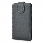 Lichee Pattern Protective Hard Leather Case for Samsung Galaxy S2 i9100 - Black
