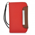 Kalaideng Luxury Hand-made Leather Case for Blackberry 9360 - Red + Coffee