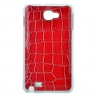 Artificial Crocodile Leather Cover Plastic Back Case for Samsung Galaxy Note / i9220 - Red