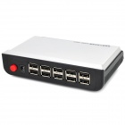 10-Port USB Laptop Notebook Anti-Theft Alarm Security System - White