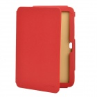 Protective PU Leather Stand Holder Case for Samsung Galaxy Tab P7300- Red