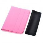 Protective PU Leather Case for Samsung Galaxy P6210 / P6200 - Pink