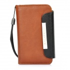 KALAIDENG Protective PU Leather Flip-Open Case for Iphone 4 / 4S - Brown + Black