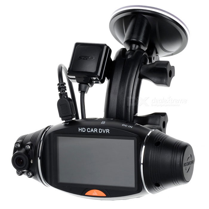 "2.8"" 3MP Dual Lens Car DVR HD 720P G-sensor/GPS/File Locking"