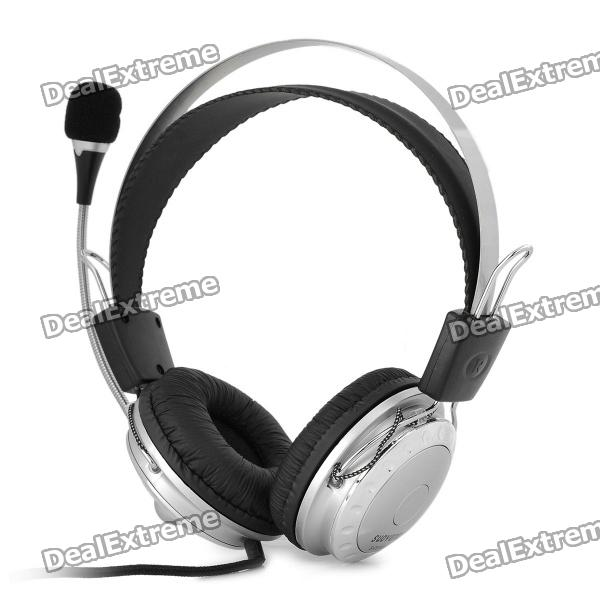 SUOYANA Stereo Headphone with Microphone - Black + Silver