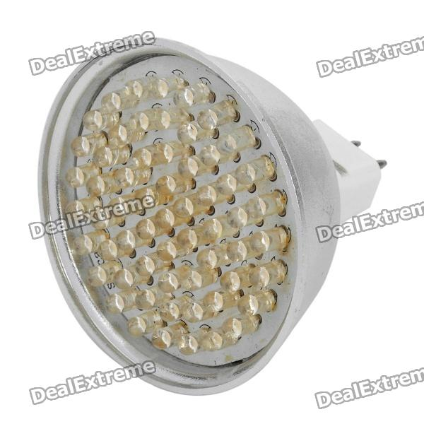 MR16 GU5.3 3.6W 360LM 3000K luz blanca caliente del bulbo 60-LED Copa (DC 12V)