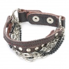 Fashion Leather Bracelet - Brown