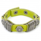 Fashion Cowhide Leather Bracelet - Green