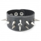 Fashion Cowhide Leather Bracelet - Black