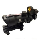 4X32 Tactical Optical Red Dot Gun Sight Scope with 21mm Rail Mount Guns - Black
